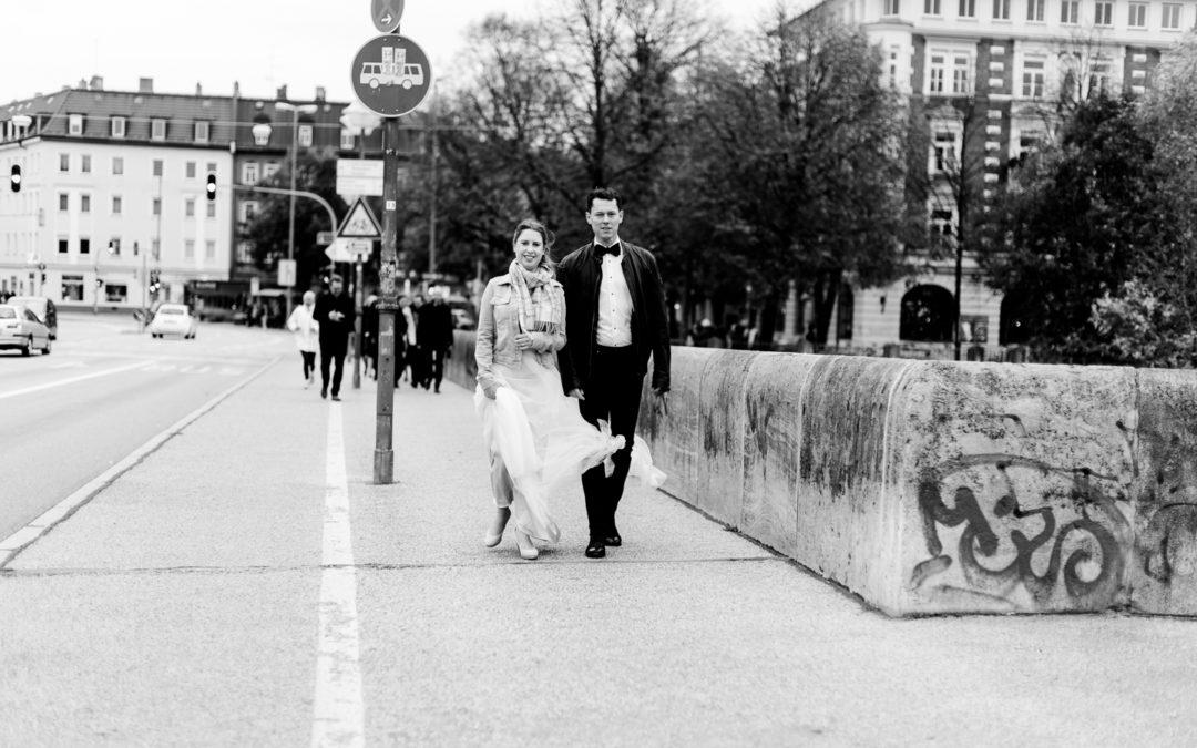 urbane Hochzeit in München